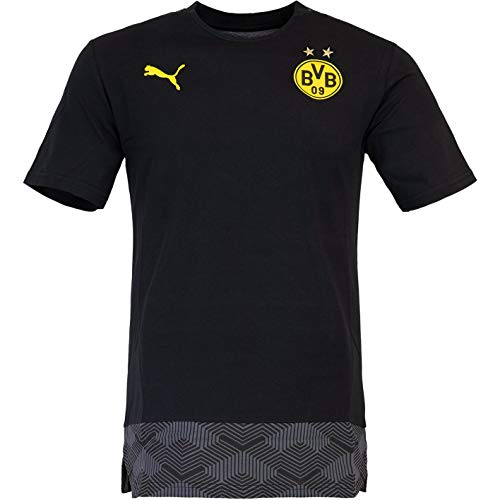 PUMA Borussia Dortmund Casual T-Shirt (L, Black/Yellow)