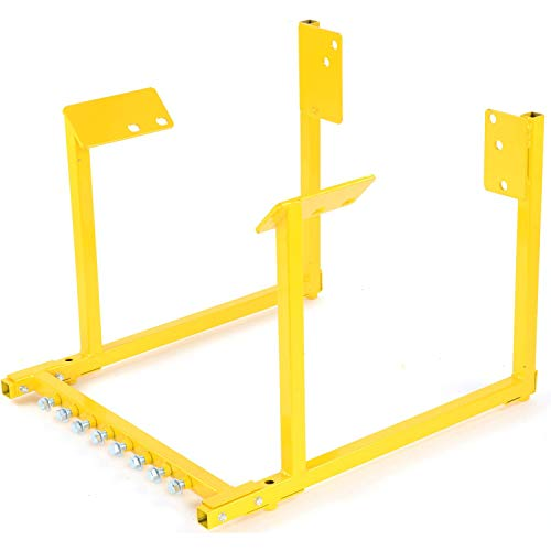 JEGS Engine Cradle For Big Block Ford Engines | All-Steel Construction | Powdercoated Yellow | 1000 LBS Capacity | Hardware Included | Easy Assembly