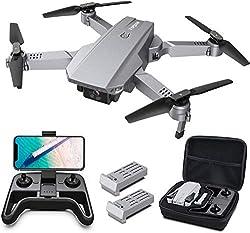 Tomzon D25 4K Drohne mit Kamera Faltbare FPV Drohne für Erwachsene, 2 Akkus, Lichtpositionierung, Handgestenfotografie, Bahnflug, 3D Flip, Fotofilter, Kopfloser Modus, Geteilter Bildschirm