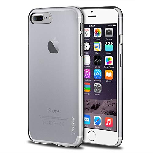 "Compatible with iPhone 8 Plus / 7 Plus Case, Insten Premium [Ultra Slim] Lightwight Soft TPU Rubber Candy Skin Anti Slip Case Cover Compatible with iPhone 8 Plus / 7 Plus (5.5""), Clear"