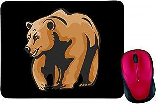 Alfombrilla para ratón con diseño de oso marrón