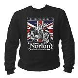 P-T-D England Chopper Motorcycles Motorrad Norton2 Sweatshirt Pullover (L)