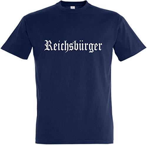 Herren T-Shirt Reichsbürger (3XL, Dunkelblau)