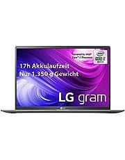 LG gram 17 tums bärbar dator – 1,35 kg lättare Intel Core i7 laptop (16 GB DDR4 RAM, 1 TB SSD, IPS Display, Thunderbolt 3, Windows 10 Home) – mörkgrå. Tyskt QWERTY tangentbord
