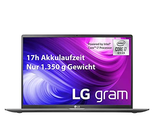 LG gram 17 Zoll Ultralight Notebook - 1,35 kg leichter Intel Core i7 Laptop (16GB DDR4 RAM, 1 TB SSD, 17 h Akkulaufzeit, IPS Bildschirm, Th&erbolt 3, Windows 10 Home) - Dunkelgrau