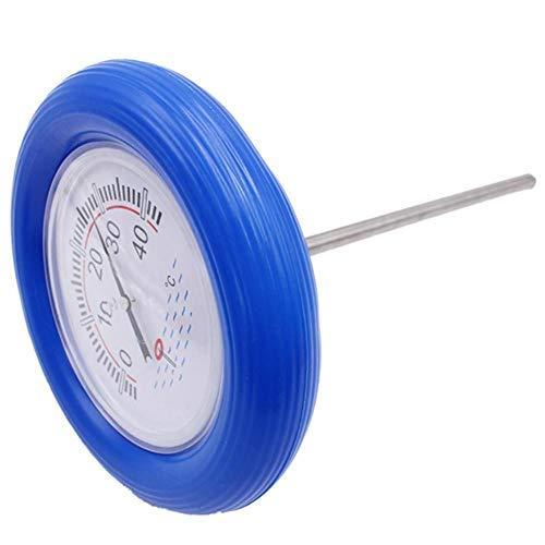 Verloco waterthermometer voor zwembad, met ronde wijzerplaat, drijvende thermometer voor thermobad, aquarium, visvijver, meetbereik van temperatuur van hoge precisie (0 °C tot 40 °C)