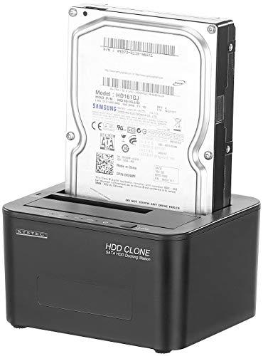 Xystec Festplattenkopierer: USB-3.0-Dockingstation für SATA-Festplatten & -SSDs, mit Klon-Funktion (Festplatte klonen Hardware)