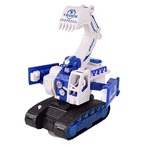 jieGorge Juguete Educativo, Excavadora elctrica de Navidad para nios Coche de deformacin Robot Juguetes Ingeniera Coche Regalo, Juguetes y Pasatiempos (Azul)