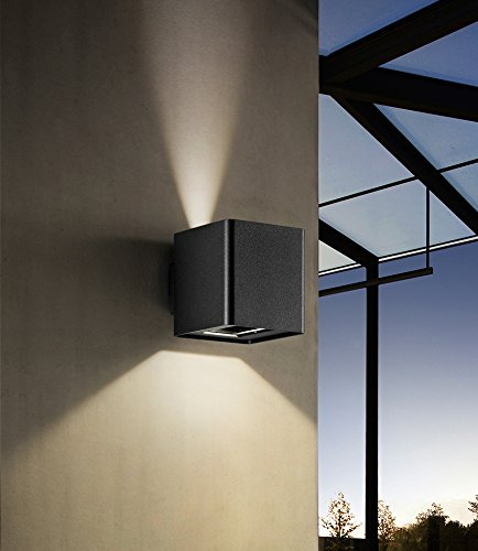 LED wandlamp van aluminium kleur grafiet PERENZ 6118A wandlamp binnen en buiten verstelbaar