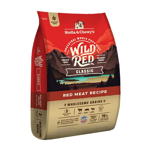 Stella & Chewy's Wild Red Dry Dog Food Classic High Protein Wholesome Grains Red Meat Recipe, 22 lb....