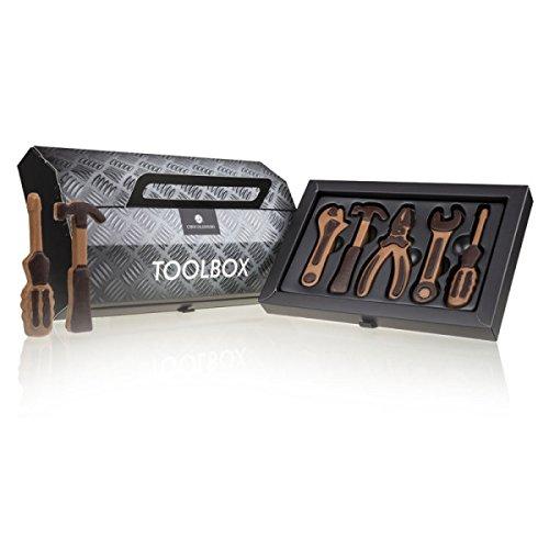 Toolbox - Werkzeug aus Schokolade |Schokoladenwerkzeug | Schokolade Geschenk | Geschenk für Männer | Geschenk Vatertag | Schokolade Werkzeugkasten | Geschenk für papa | Bastler geschenk | Alkoholfrei
