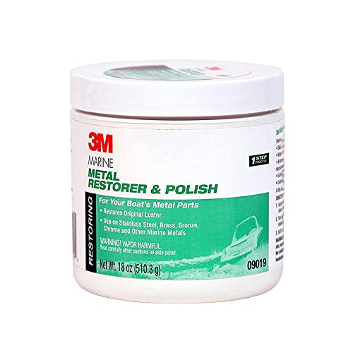 3M (09019) Marine Metal Restorer and Polish 09019, 18 oz Paste, 6 per case [You are purchasing the Min order quantity which is 6 EACHS]