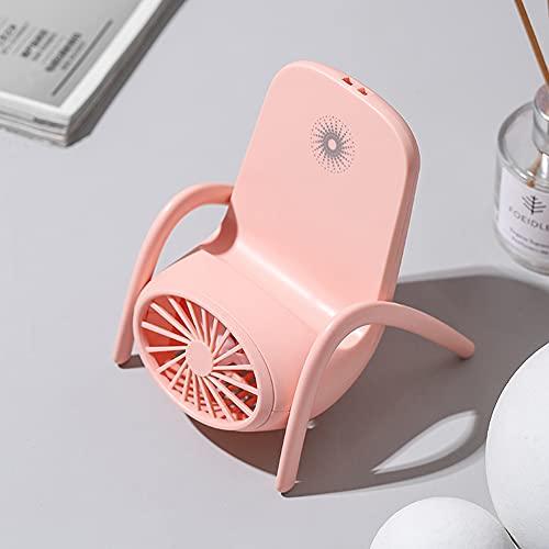 Herbests Ventilador de Escritorio USB, Ventilador Silencioso Portátil con Soporte para Teléfono Móvil, Ventilador de Refrigeración Portátil Recargable Mini Ventilador de Escritorio USB