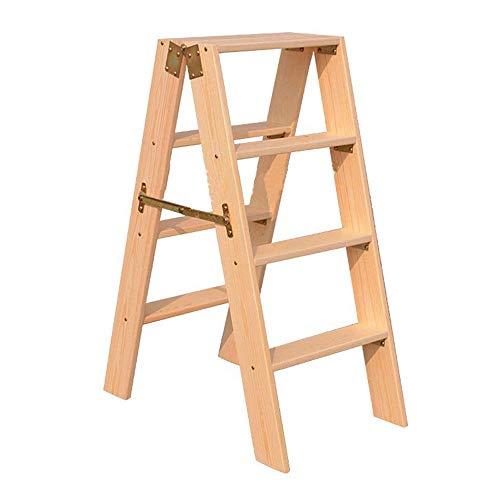 Z-H Opvouwbare trap kruk houten ladder huishoudelijke woord ladder klim ladders draagbare Stap 4