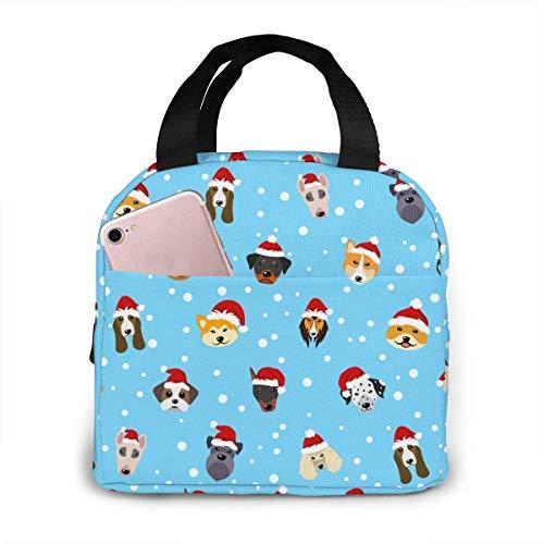 Lollipop de Navidad Candy Stars Lemon Bolsa de almuerzo aislada portátil, bolsa Bento impermeable para oficina, escuela, senderismo, Beac