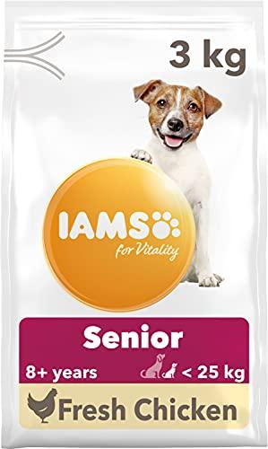 Iams - Croquettes pour chien adulte et sénior - A partir de 7 ans - Poulet - 3 kg -1 pièce
