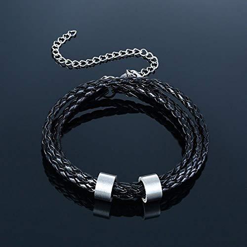 ASIG personaliseren familienaam armbanden voor mannen gelaagd leer met kralen bedeltje armband paar naar