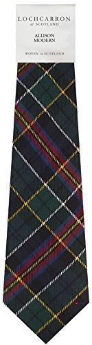 I Luv Ltd Gents Neck Tie Allison Modern Tartan Lightweight Scottish Clan Tie