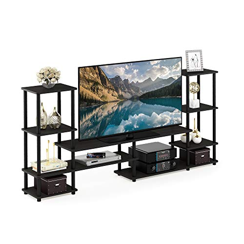 FURINNO Turn-N-Tube Grand Entertainment Center, Espresso/Black