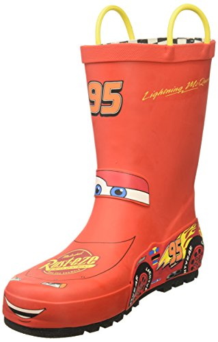 Western Chief baby girls Waterproof Disney Character With Easy on Handles Rain Boot, Lightning Mcqueen, 6 Toddler US