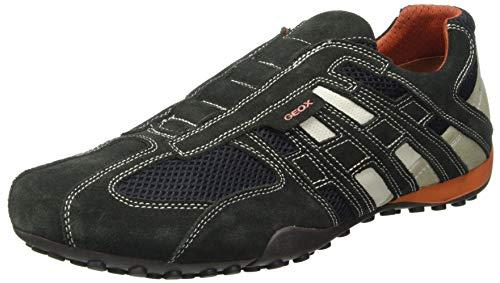 Geox Mens Uomo Snake Sneaker, Grau, 48 EU