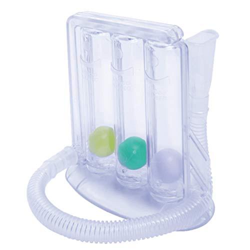 Scicalife Ejercicio de Respiración - Espirómetro de Incentivo de Tres Bolas 600/900/1200 Cc - Entrenador de Respiración con Capacidad de Dispositivo Vital para Adultos (Color Aleatorio)