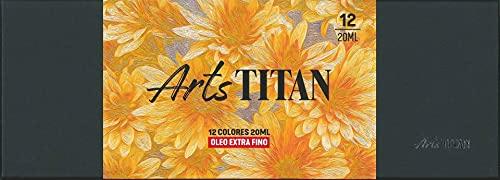 Caja Set 8 Oleos TITAN Extra Fino Basicos