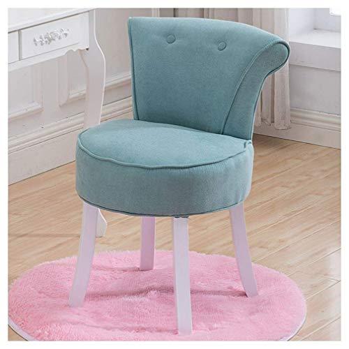 DNSJB Make-up kruk voor stoel, rond tapijt, voor de kaptafel, kruk, stijlvol, fluweel, lounge slaapkamer, garderobe