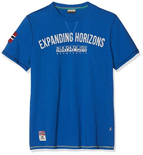 NAPAPIJRI Selize T-Shirt, Blu (Skydiver Blue Bc5), Large Uomo