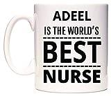 ADEEL Is The World's BEST Nurse Taza por WeDoMugs®