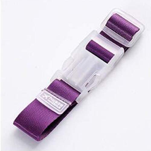 N101 Travel Luggage Strap Belt Suitcase Bag Luggage Straps Buckle(Light Purple)
