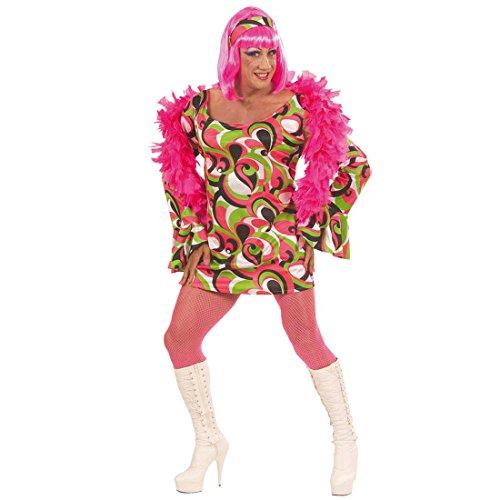 NET TOYS Vestito Regina del Party Stile Anni Settanta Travestimento per Uomini Taglia Abito da Drag Queen - XL 58/60
