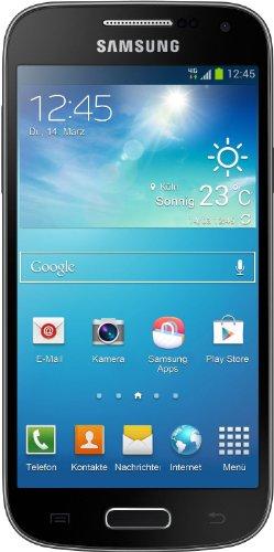 Samsung Galaxy S4 mini Smartphone (10,9 cm (4,3 Zoll) AMOLED-Touchscreen, 8GB interner Speicher, 8 Megapixel Kamera, micro-SIM, LTE, NFC, Android 4.2) - Tief-Schwarz [EU-Version]