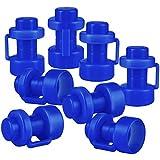ONVAYA Trampolin Endkappen | Blau | Set mit 8 Pfostenkappen für die Netzstangen des Trampolins