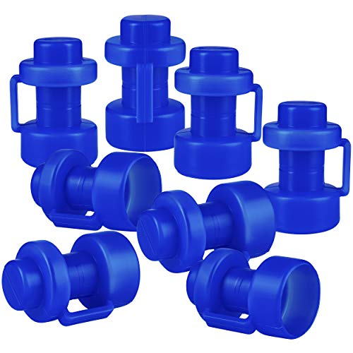 ONVAYA® Trampolin Endkappen | Blau | Set mit 8 Pfostenkappen für die Netzstangen des Trampolins