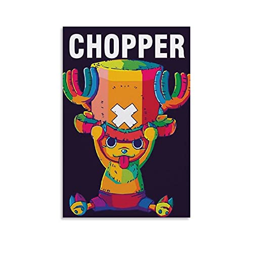 Anime-Poster, einteilig, Cartoon-Motiv Tony Tony Chopper, Leinwand-Kunst-Poster und Wandkunstdruck, modernes Familienschlafzimmer, 20 x 30 cm