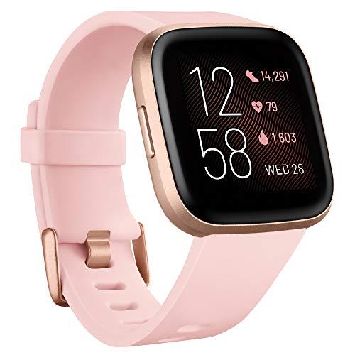 Fitbit Versa 2 - smartwatch fitness dbający o zdrowie ze sterowaniem głosowym, analizą snu i muzyką