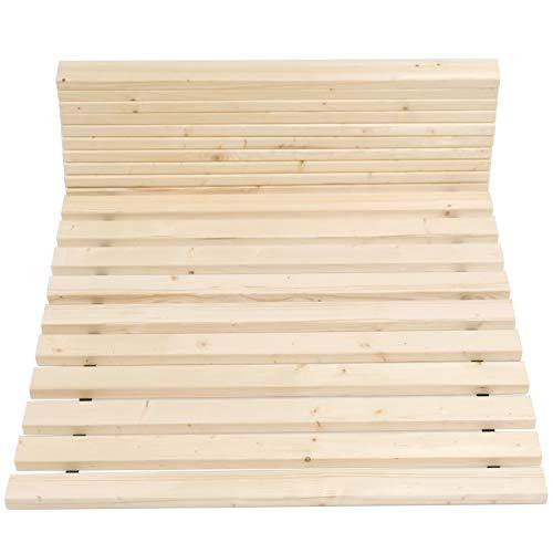 Qualitätsmarkenprodukt von TUGA - Holztech stabilstes einlegefertiges unbehandeltes Naturprodukt Rollrost Lattenrost 100x200cm weit über 500Kg Flächenlast Qualitätsarbeit aus Deutschland mit 10 Jahren Garantie inkl Befestigungskit