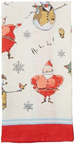 Ulster Weavers, Geschirrtuch, Madeleine Floyd, Weihnachtsmann und Schneemänner