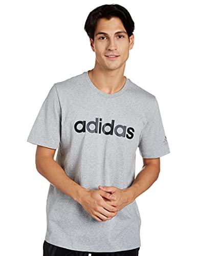 adidas M Lin SJ T Camisetas, Gris, L Men