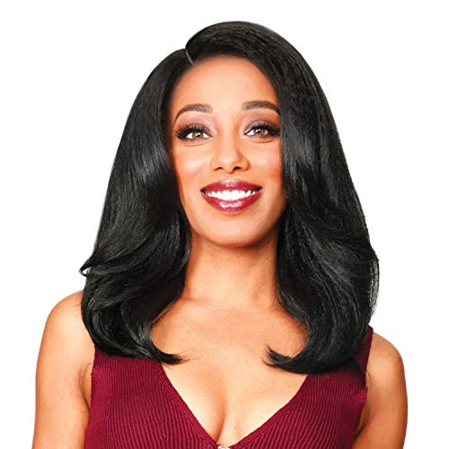 Zury Sis Lace Front Wig Naturali Star Natural Pressed Texture Nat Lace H Romy (1B)