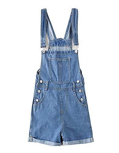 Mujer Vaqueros Peto Verano Vintage Fashion Ajustable Straps Jeans Tamaños Cómodos Corta Elegantes Casual...