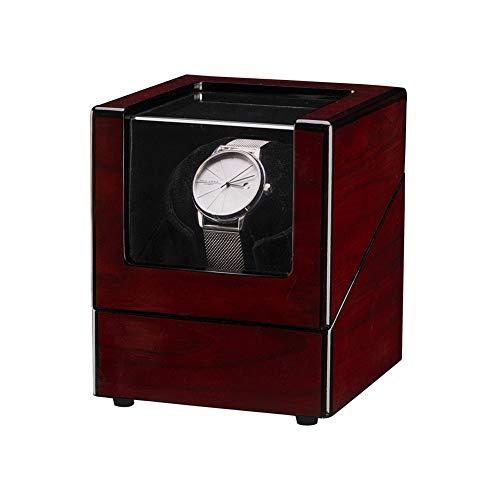 Caja para Relojes Caja De Reloj De Motor Automático Caja De Balancín De Caoba Turn Reloj Butder Winder Reloj De Relojería Eléctrica