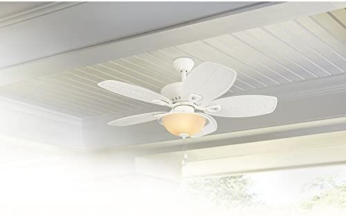 high quality Harbor wholesale Breeze Cedar Shoals 44-in White Downrod or Close Mount Indoor/Outdoor Ceiling discount Fan with Light Kit outlet sale