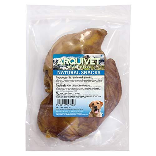 Arquivet Oreja de cerdo mediana - Natural snacks para perros - (Bolsa 2 uds) 🔥