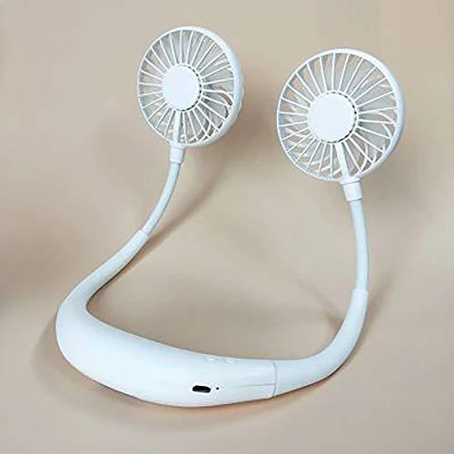 ZHIPENG Lazy Fan, Hängende USB-Lade Mini Höhenverstellbare Doppelkühlventilator Für Indoor-Und Outdoor-Freizeit Büro Sportgrill - Perfekt,White