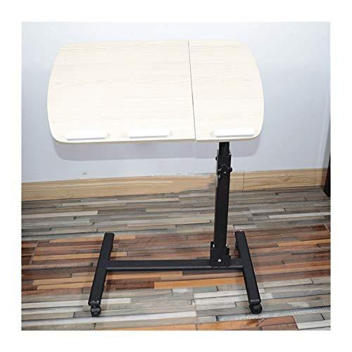 Tabla Mordern Portátil Diseño Escritorio Giratoria Plegable Altura Ajustable Cama Mesa Plegable Lateral For El Ordenador Portátil Escritorio Ordenador Portátil Soporte Bandeja Mesa de cama con ruedas