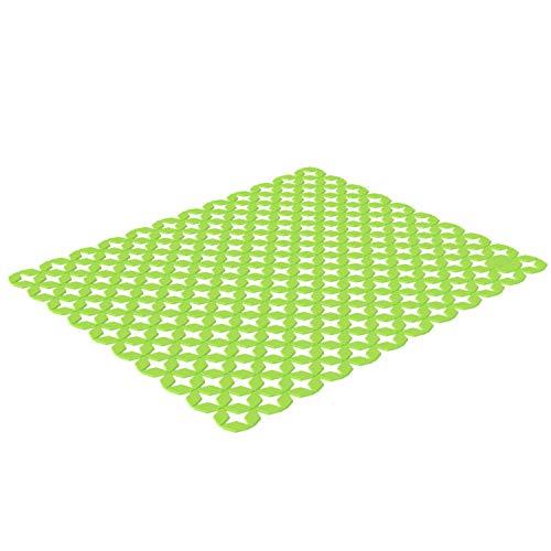 Rotho Spacewonder individuell zuschneidbare Spülbeckeneinlage, Kunststoff (PP) BPA-frei, grün, (40,0 x 33,3 x 0,4 cm)