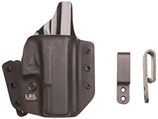 L.A.G. TACTICAL, INC., Defender Series, OWB/IWB Holster, Fits SIG P365, Kydex, Right Hand, Black Finish