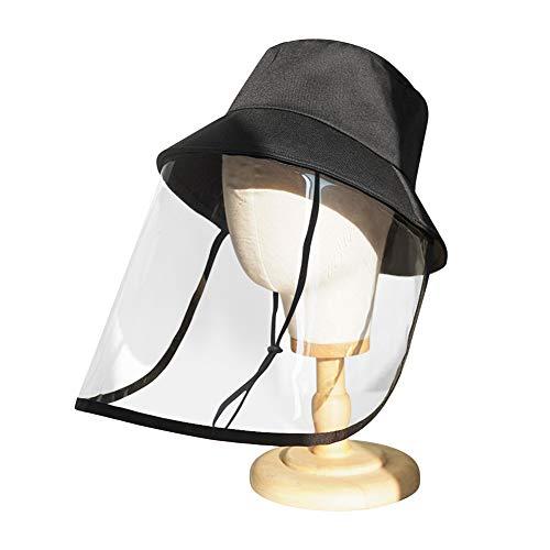 Luyao Máscara Protectora Anti-Saliva, Protector Ocular, Gorra de Pescador Anti-Saliva Anti-vaho, Sombra Antipolvo para Todo el Rostro al Aire Libre, Unisex